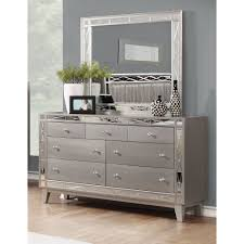 Wayfair Dresser With Mirror by Leighton Metallic Mercury Dresser