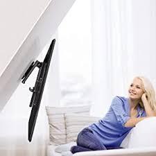 hama deckenhalterung tv schwenkbar neigbar klappbar höhenverstellbar halterung für fernseher mit 48 117 cm diagonale 19 bis 46 zoll bis 20