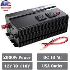 100 Truck Power Inverter Amazoncom 2000W 12V Super Duty Modified Sine