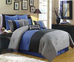 Amazon 8 Piece Luxury Bedding Regatta forter set Navy Blue