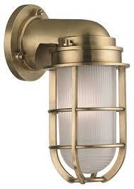 carson wall sconces style buildcom nautical brass
