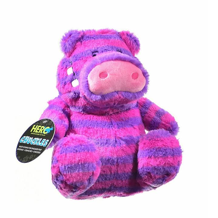 Hero Chuckles Hippo Plush Dog Toy