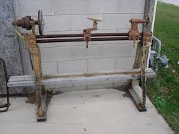 antique wood lathe e h sheldon rare us 225 00 hustisford