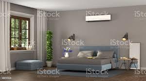 blau und braun moderne schlafzimmer stockfoto und mehr bilder architektur