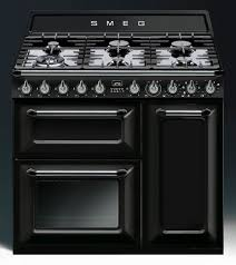 piano de cuisson smeg tr93 noir idee pianos met and