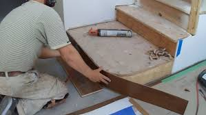 Stair Nosing For Vinyl Tile by How To Install Hardwood Stairs Curved Stairs Riser Installation