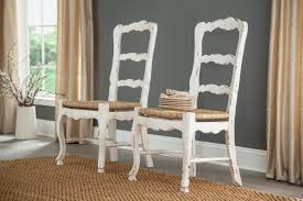 Furniture Classics French Ladder Back Solid Wood Dining Chair | Wayfair Guy Chaddock Melrose Custom Handmade Fniture Cf0485s Country French Ding Chairs With Ladder Back And Rush Seats Antique Farm Carved Tall Seat Room Set Of 6 Provincial In Walnut 10 Louis Xv Style Oak Leather Nailhead Recliner Chair Vintage White Of Four Six Xiv Ladderback Scalloped Stretchers Inspire Q Eleanor Wood 2 By Dec 16 2018