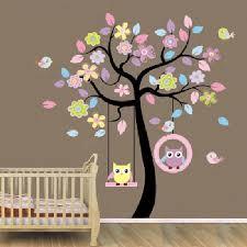 stickers chambre d enfant swing de hibou arbre stickers muraux pour chambre d enfants