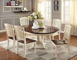 amazon com furniture of america pauline 7 piece cottage style