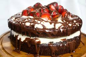 Strawberry Chocolate Ganache Layer Cake Just in time for Valentine s Day this decadent