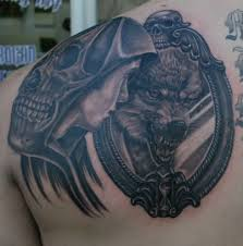 Lion Wolf Tattoo For Male