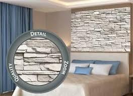 details zu poster weiße steinwand steinmauer sandstein stonewall steine wanddeko 140x100 cm