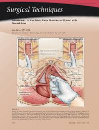 Pelvic Floor Muscle Spasm by Assessment Of The Pelvic Floor Muscles In Women With Sexual Pain