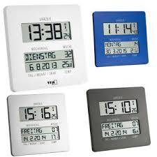 details zu tfa 60 4509 timeline funkwanduhr digital wohnzimmer datum temperatur lautlos