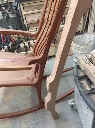 Sculpted Maloof Inspired Rocker | NC Woodworker