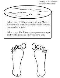 Flip Flop Walking In His Footsteps Coloring Page Jesus Washes The Disciples Feet