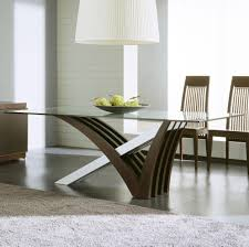 Interni Mirage Dining Table With Clear Glass Top