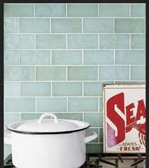 blue green tile backsplash