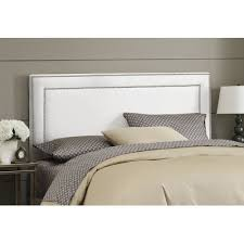 catchy stunning white fabric headboard ana white chestwick