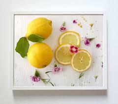Lemons Kitchen Decor Print Poster Or Canvas