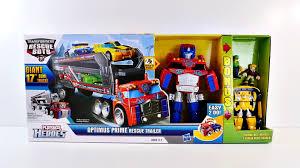 Giant Rescue Bots Optimus Prime Rescue Trailer Transformers 17_ Semi ...