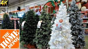 ALL CHRISTMAS TREES AT THE HOME DEPOT Christmas Shopping