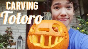 Totoro Pumpkin Pattern by Totoro Pumpkin Carving Conanxcanon Youtube