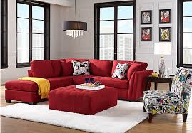 Cindy Crawford Microfiber Sectional Sofa by The Cindy Crawford Home Calvin Heights Cardinal 2 Pc Sectional