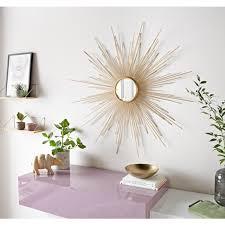 leonique dekospiegel spiegel rund wanddeko sonne