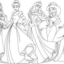 All Disney Princess Coloring Pages Page For Kids