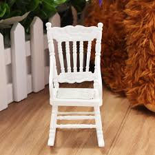 US $4.15 |New 1:12 Dollhouse Miniature Furniture White Wooden Rocking Chair  Hemp Rope Seat For Dolls House Accessories Decor Toys-in Doll Houses From  ...