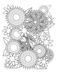 Symmetrical Blooms Coloring Page