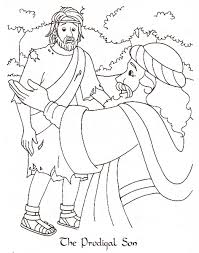 Parable Of The Lost Son Bible Coloring Page