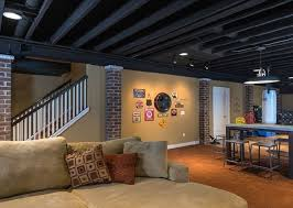 Using A Paint Sprayer For Ceilings by Basement Ceiling Ideas Exposed Ducts Painted Home Improvements
