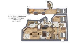 100 Attic Apartment Floor Plans Penthouse No 52 Residence Brehova
