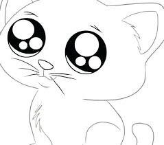 Coloring Pages Of The Blue Caterpillar Cat Face Page Best Kitty Images Color Cute C