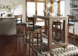 Pinnadel Dining Room Bar Table 4 Tall UPH Swivel Stools