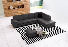 Grey Leather Sectional Living Room Ideas by Modest Living Room Design Using Grey Leathered Italian Sectional