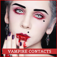 Theatrical Contacts Prescription by Halloween Vampire Contacts Lenses Halloween Contactolid White