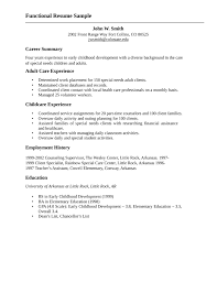 Care Worker Resume