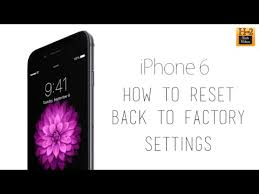 iPhone 6 How to Reset Back to Factory Settings