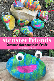 A Fun And Easy DIY Art Project This Monster Friends Rock Painting Kids Craft Is