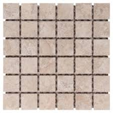 lystra almond porcelain mosaic 13in x 13in floor and decor