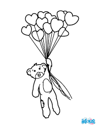 Bunch Of Heart Balloons Coloring Page
