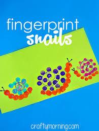 Cute Fingerprint Snail Craft For Kids