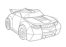 Bumblebee Car Coloring Pages For Kids Printable Free