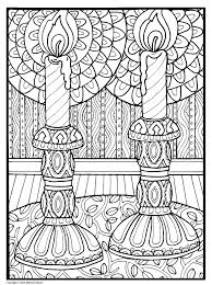Beautiful Candles Shalom Coloring Book