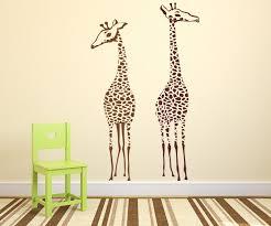 giraffes for nursery playroom room vinyl wall decal