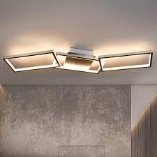 gbly led deckenleuchte wohnzimmer moderne büro deckenle warmweiß 3000k wohnzimmerlmape 89cm eckige geometrisch deckenbeleuchtung für schalfzimmer