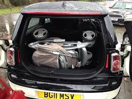 poussette dans le coffre d une mini forums auto de motorlegend